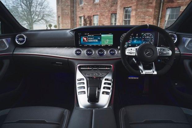 Mercedes-AMG GT four-door dashboard