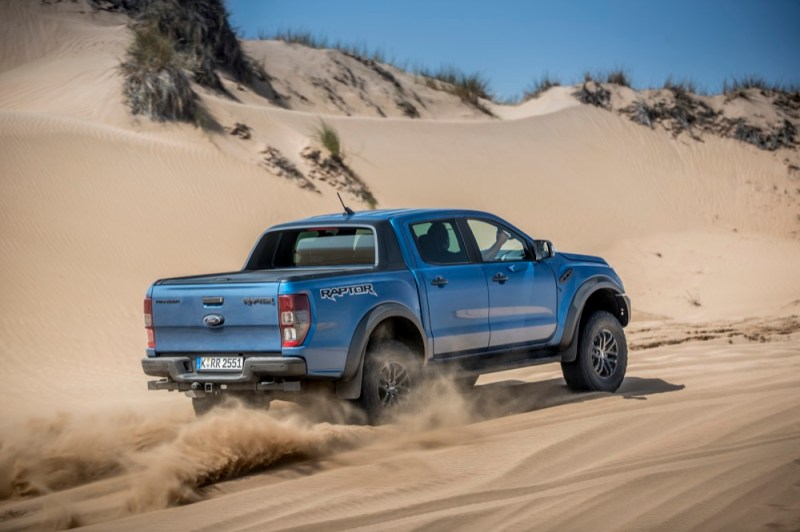 Ford Ranger Raptor rear view off-roading
