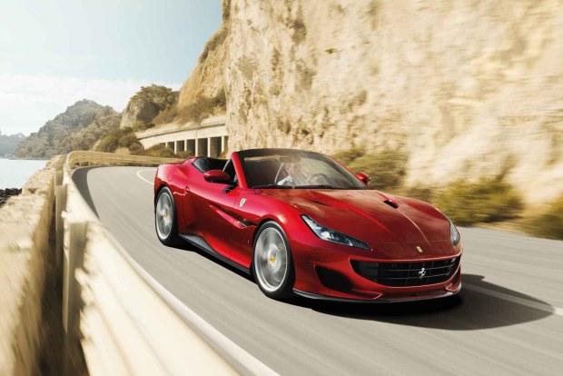 Ferrari Portofino front driving