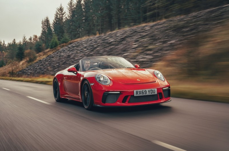 911 Speedster driving