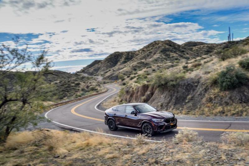 BMW X6M driving