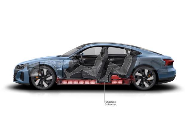 Audi e-tron GT cutaway battery