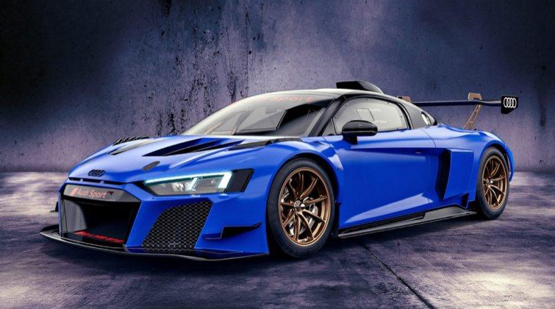 Audi R8 LMS GT2 Nogaro blue