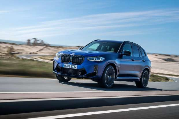 BMW X3 M Competition driving