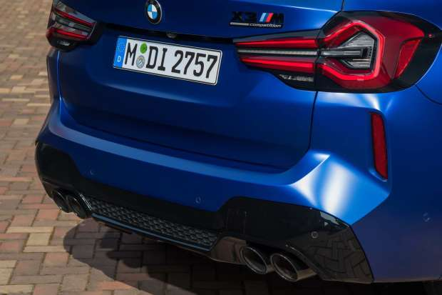 BMW X3 M Competition detail rear