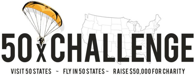 The mission should you choose to accept it: Visit all 50 States, Fly in all 50 States, Raise $50,000 for Charity.