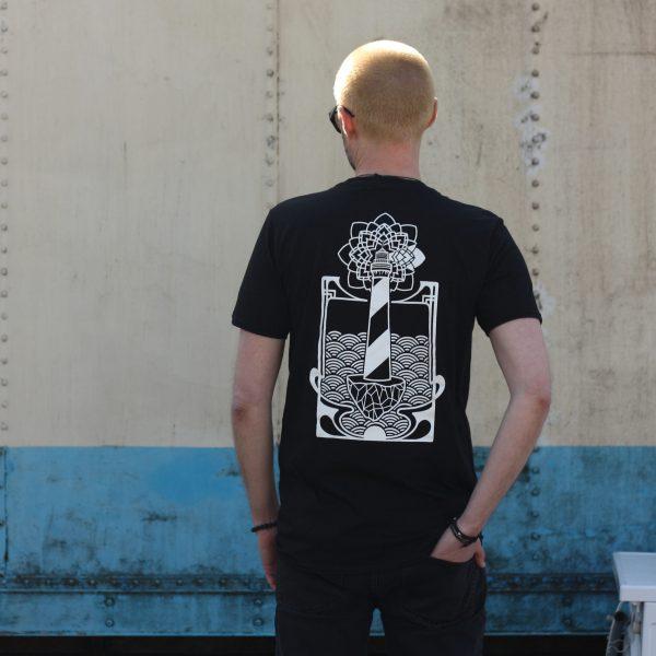 50 Year Storm Black T Shirt Back View