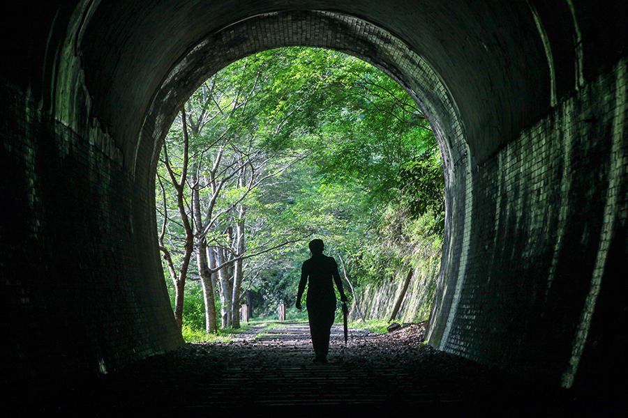 兵庫県旧JR福知山線廃線跡-生瀬駅から武田尾駅