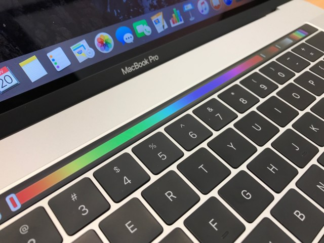 Picking a color on the Touch Bar
