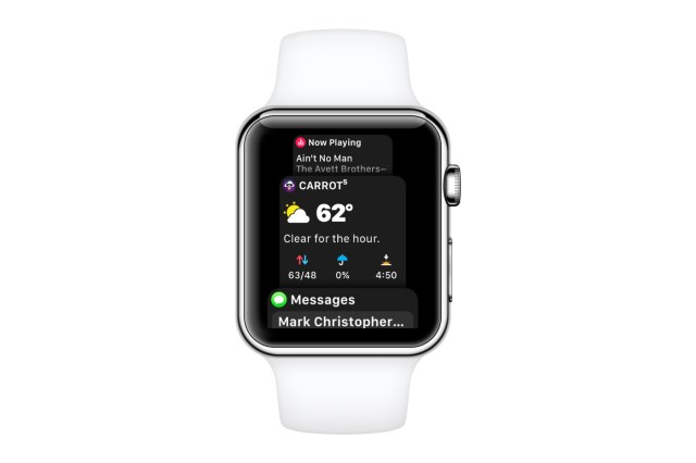 watchOS 4 dock