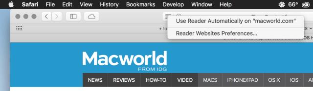 Reader options