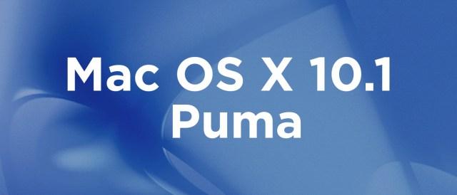 Mac OS X 10.1 Puma