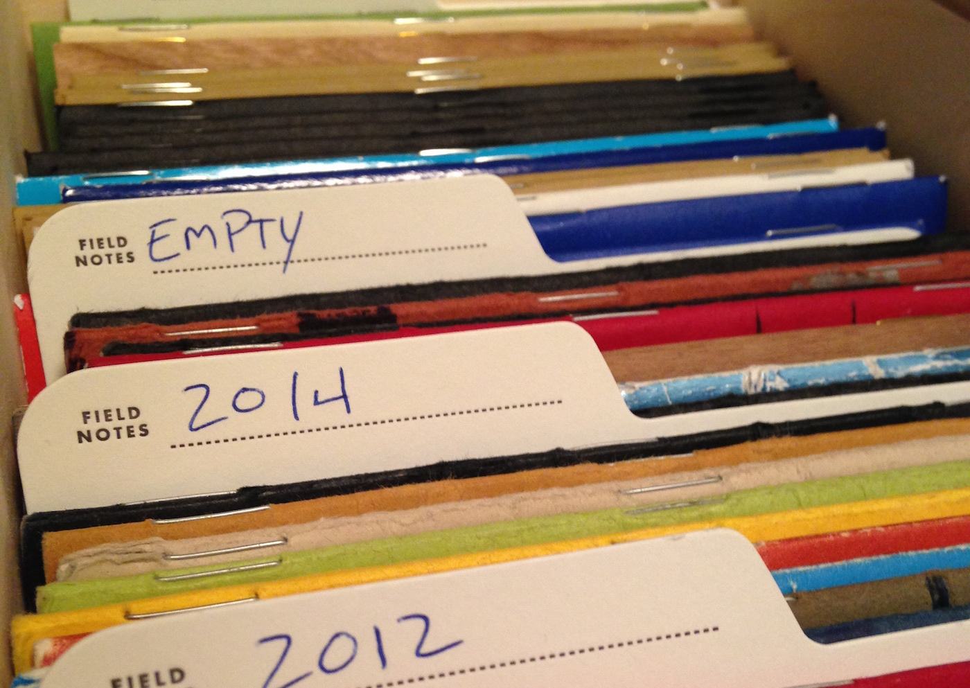 Stored notebooks