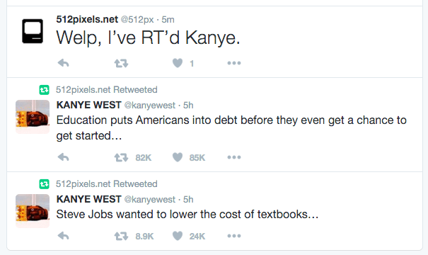 Kanye, on textbooks