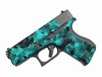 Teal and Black Camo