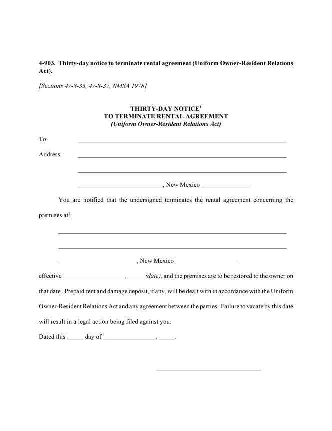 Day Notice To Terminate Al Agreement