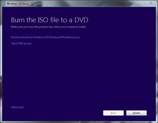 Windows 10 iso creation
