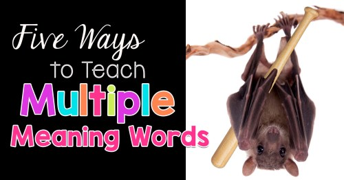 small resolution of Five Ways to Teach Multiple Meaning Words - The Candy Class