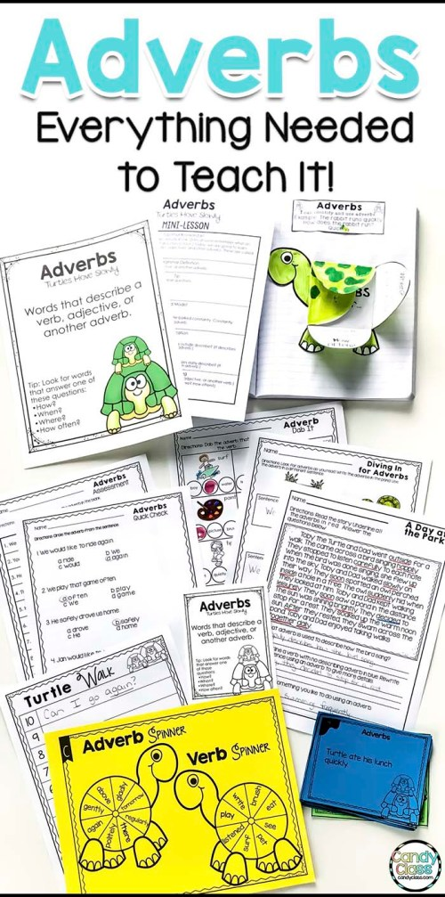 small resolution of Adverbs Mini-Lesson \u0026 Activity Ideas - The Candy Class