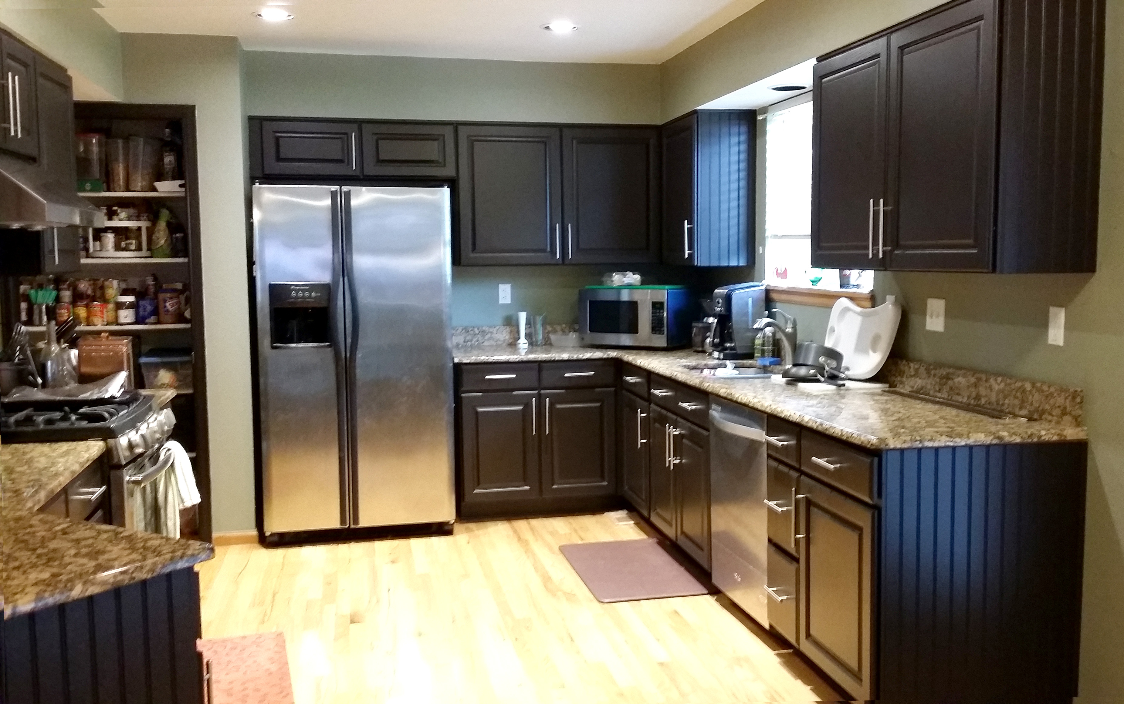espresso and white kitchen cabinets hanging lights gallery   5280 cabinet coatings coating ...
