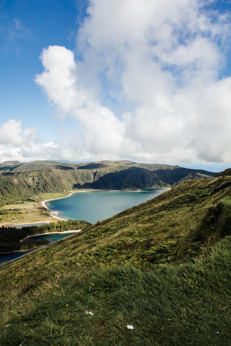 Lagoa do Fogo and surrounding mountains