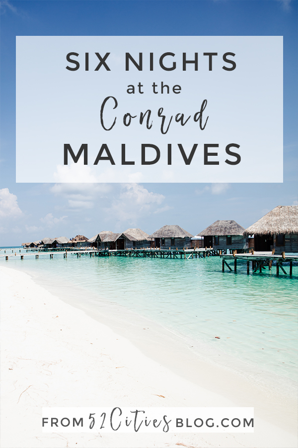 Six nights at the Conrad Maldives