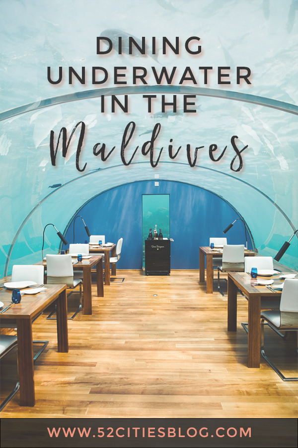 Dining underwater in the Maldives