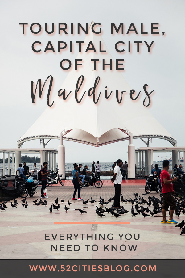 Touring Male, capital city of the Maldives