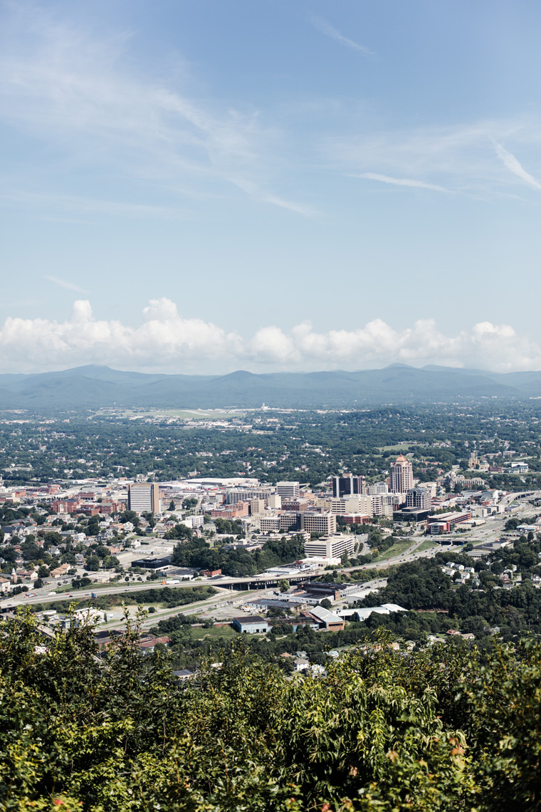 Roanoke, Virginia from above