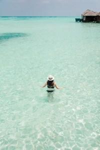 Carly in resort lagoon
