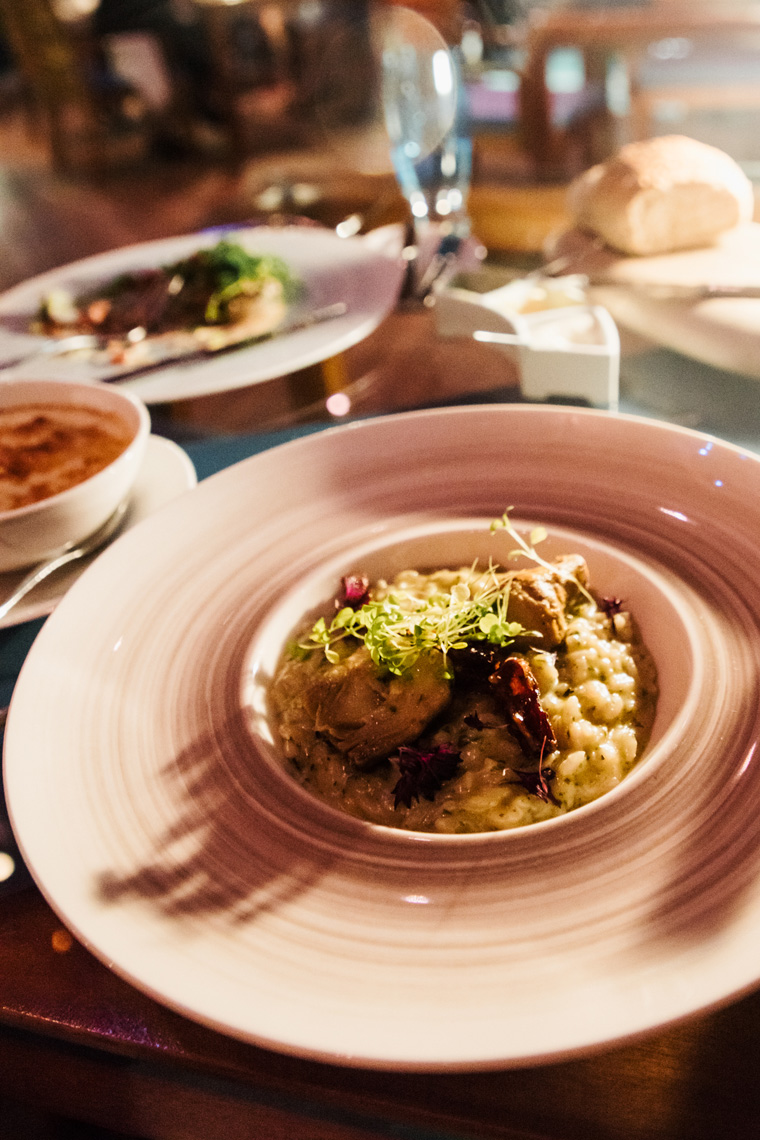 Mushroom risotto at the Conrad Maldives