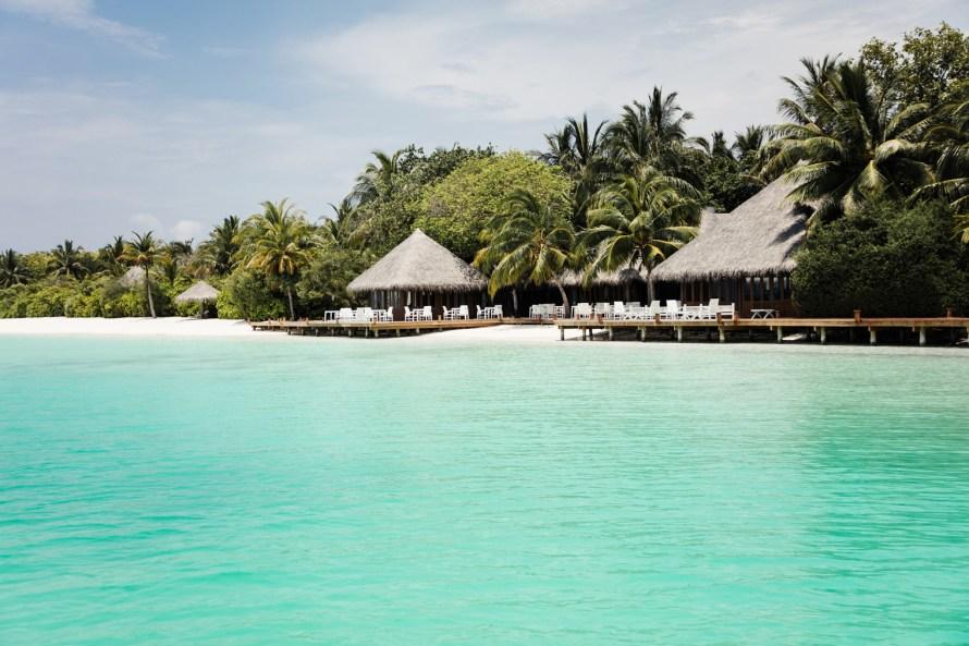 Conrad Maldives beach and huts