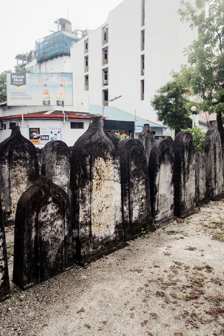 Tombstones at Old Friday Mosque