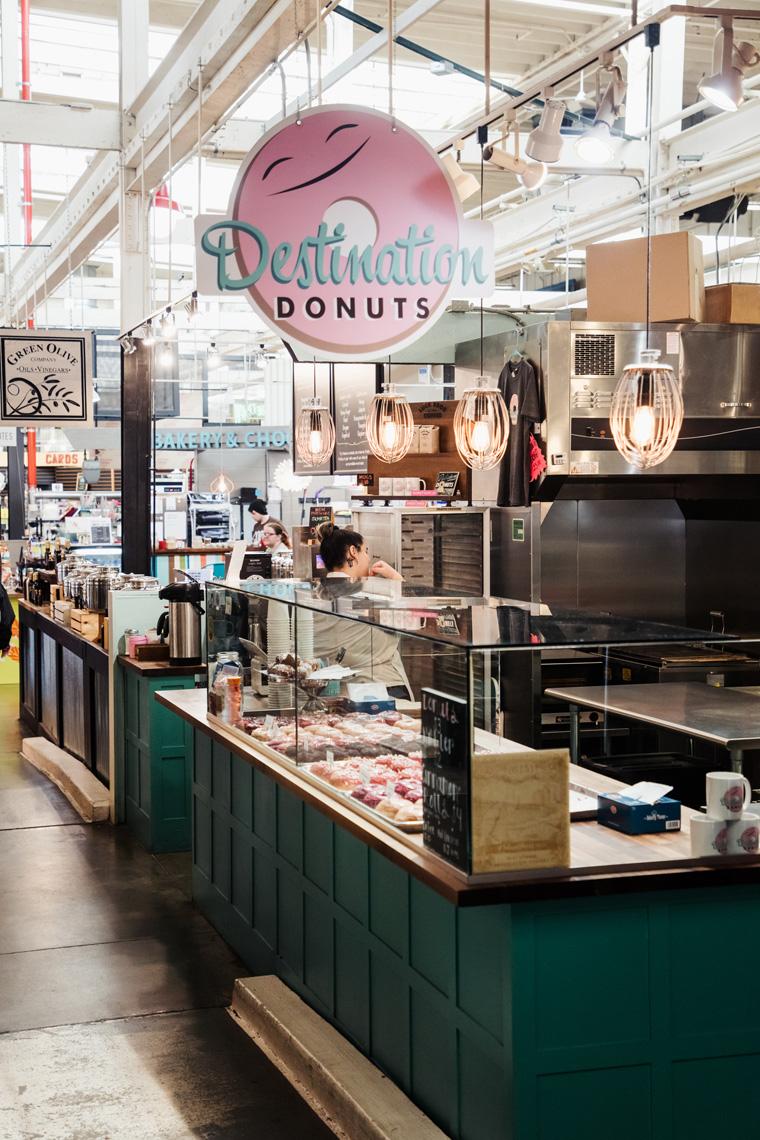 Destination Donuts inside North Market