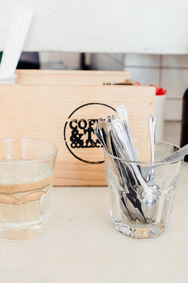 Coffee spoons and glasses