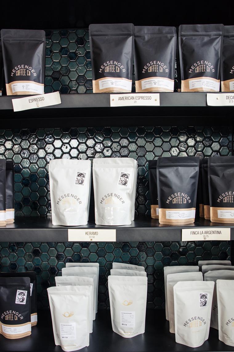 Messenger Coffee Co. bags of coffee