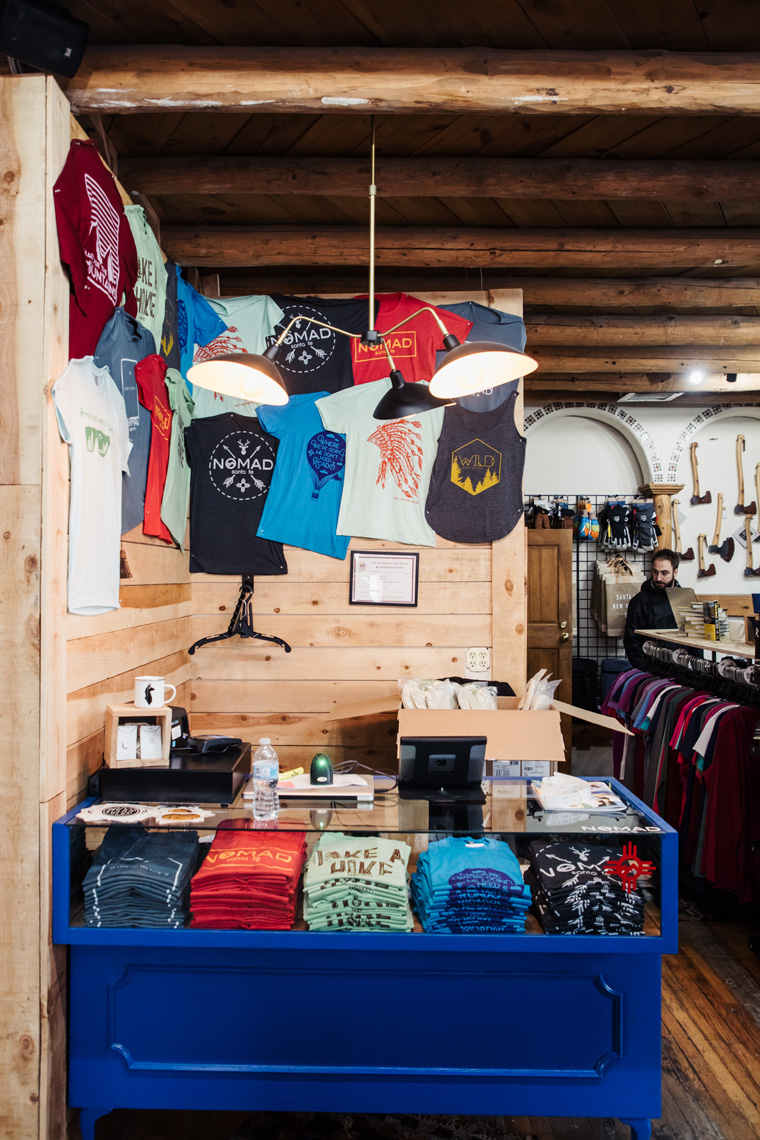 T-shirts in a Santa Fe shop