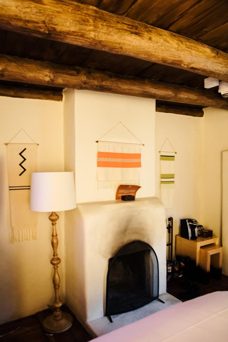 La Posada de Santa Fe fireplace