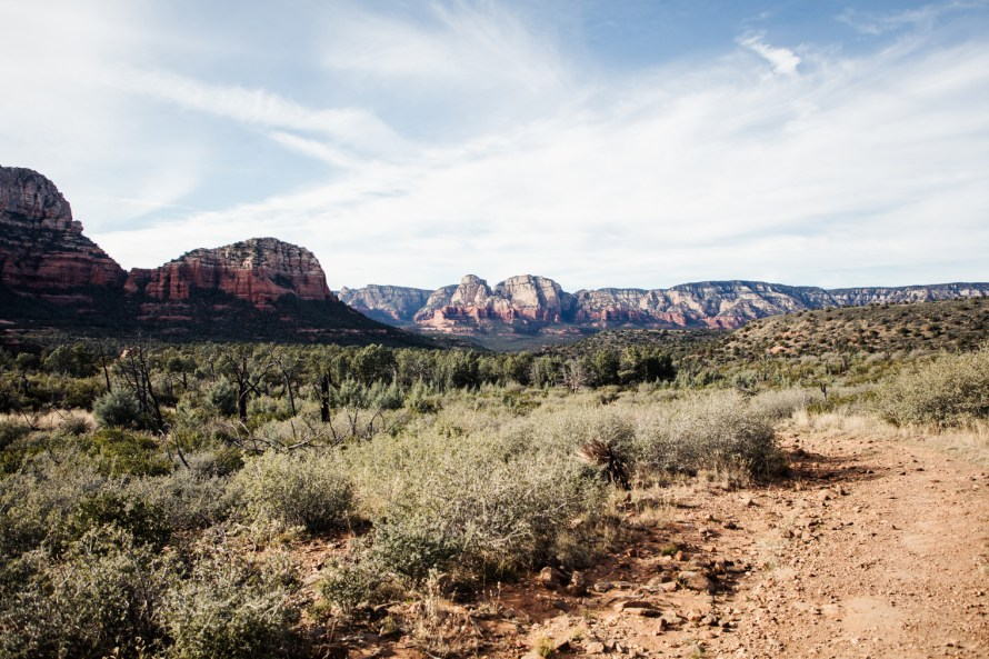 Mountain view from Brins Mesa trail