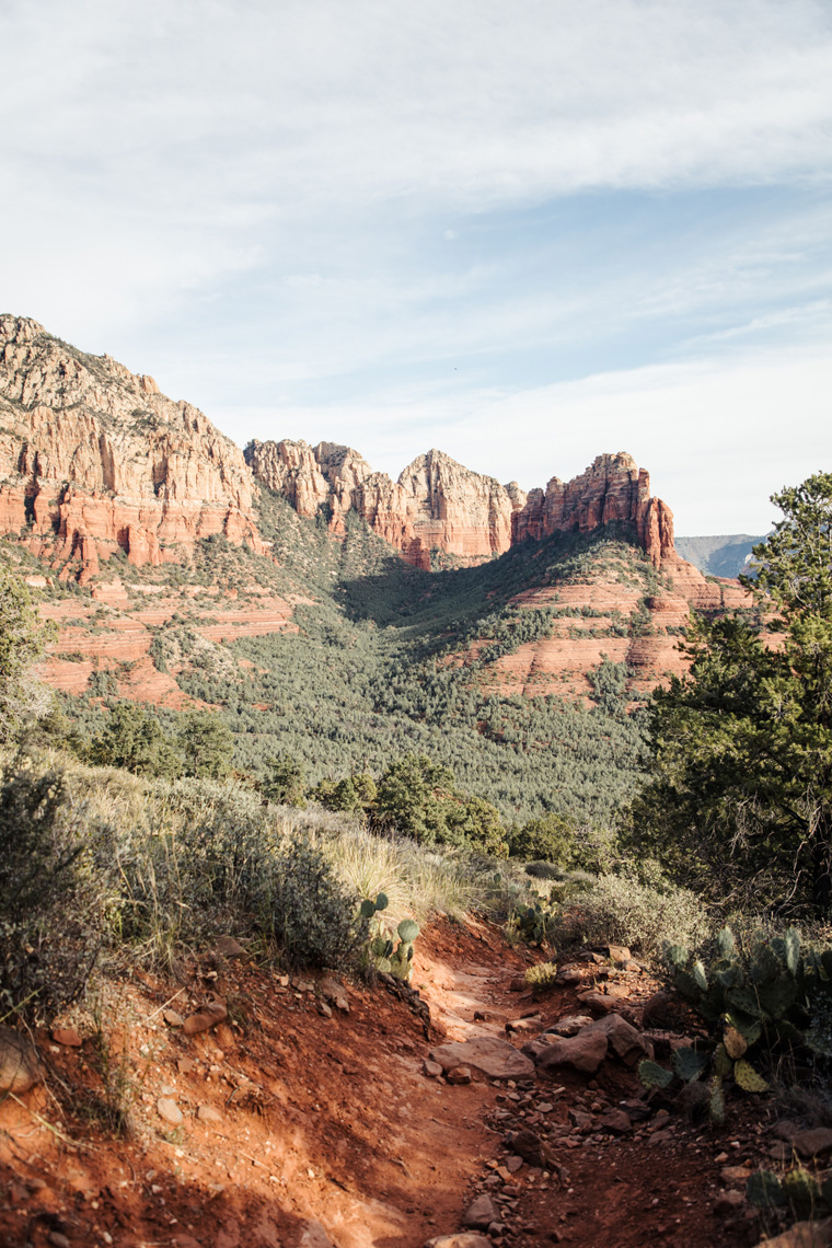 Sedona mountains from hiking trail