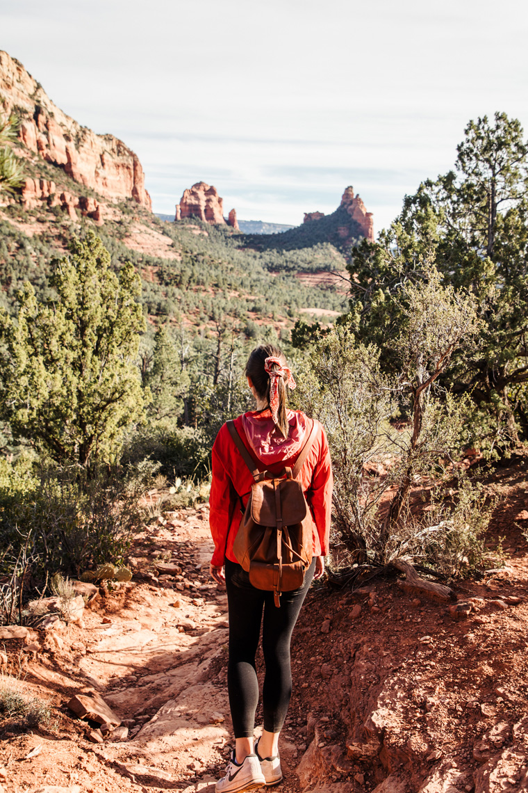Carly on Sedona hiking trail