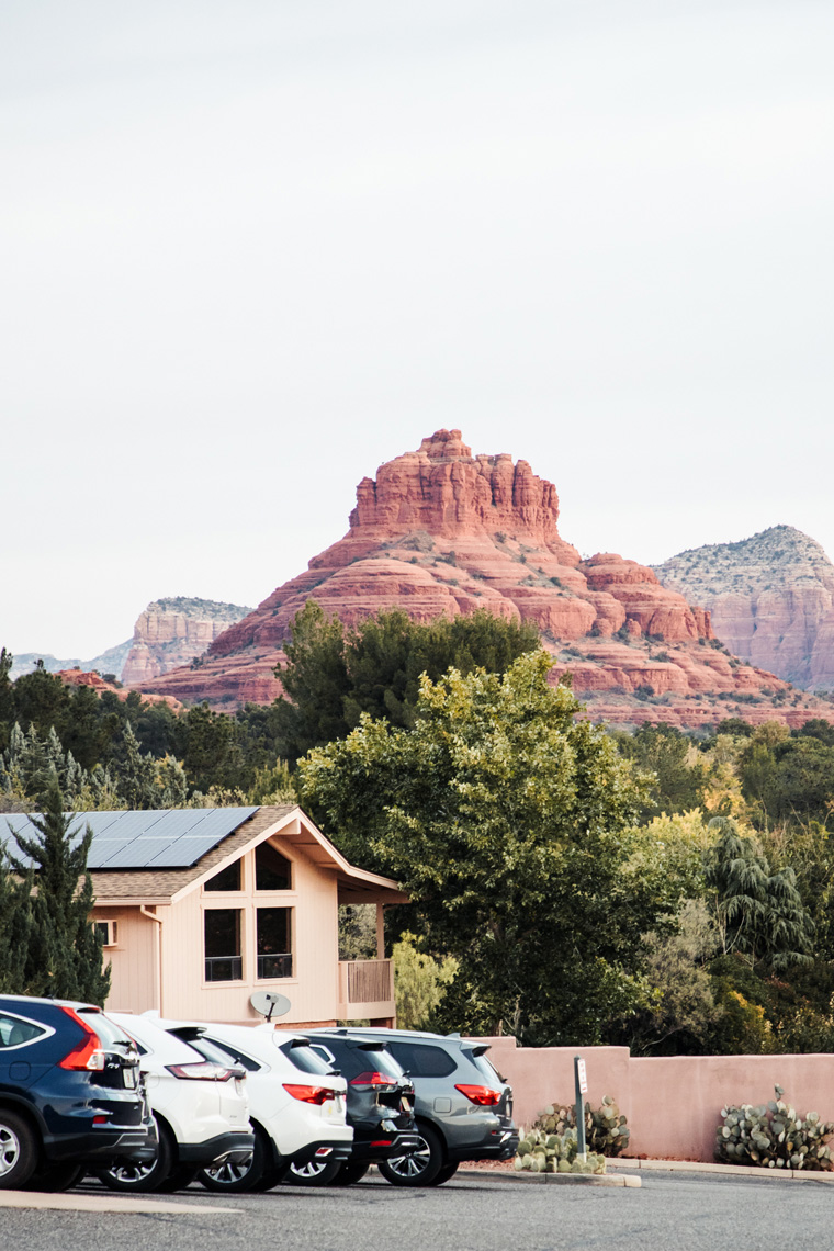 View from Hilton Sedona Resort at Bell Rock parking lot