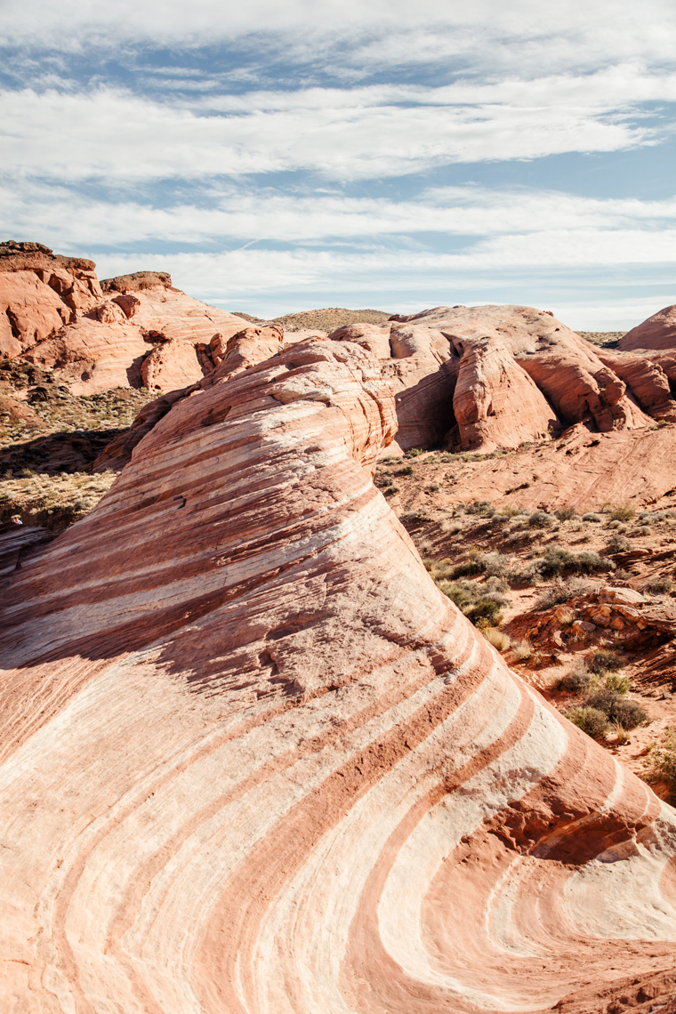 Striated rock in Valley of Fire State Park