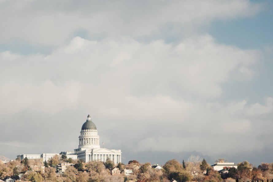 Utah state capitol from afar