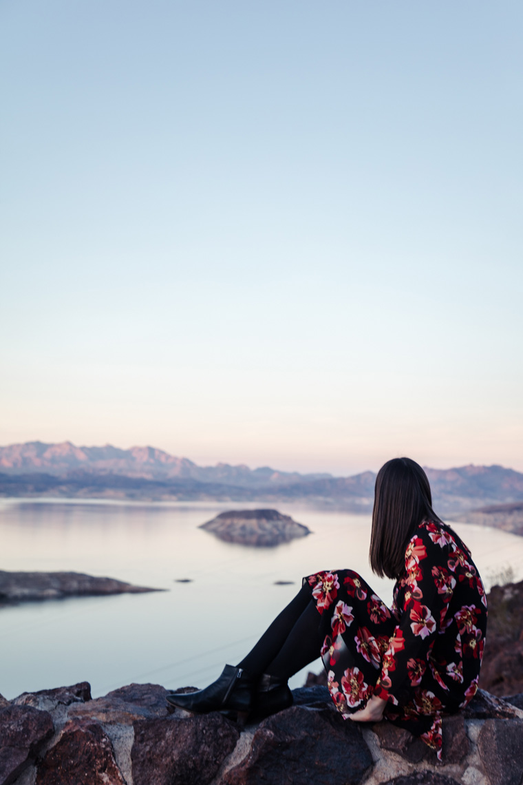 Carly overlooking Lake Mead