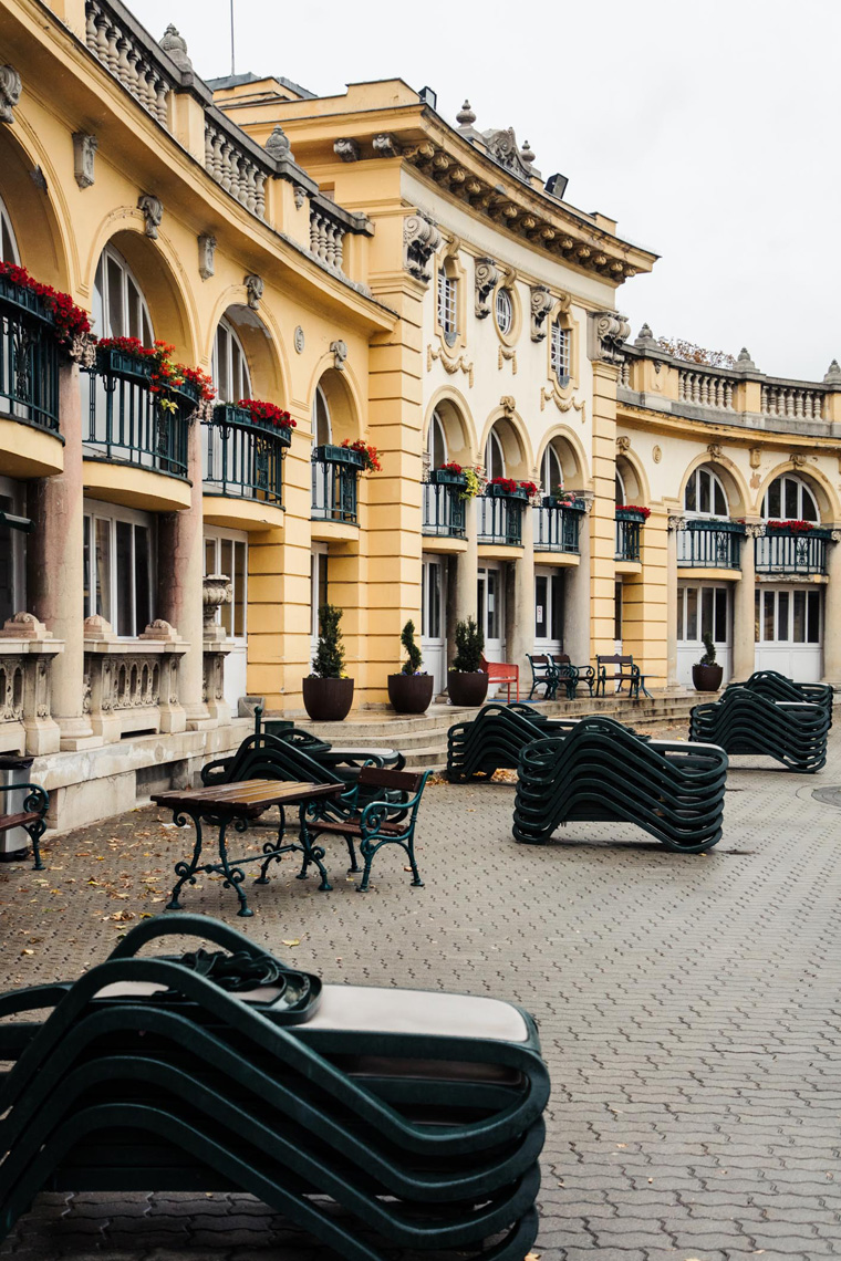 Chairs at Szechenyi Thermal Baths