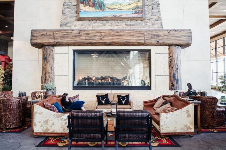 Gaylord Rockies Resort fireplace