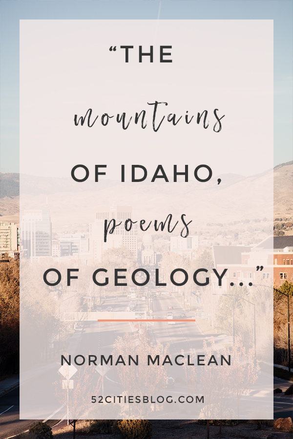 """""""The mountains of Idaho, poems of geology..."""""""