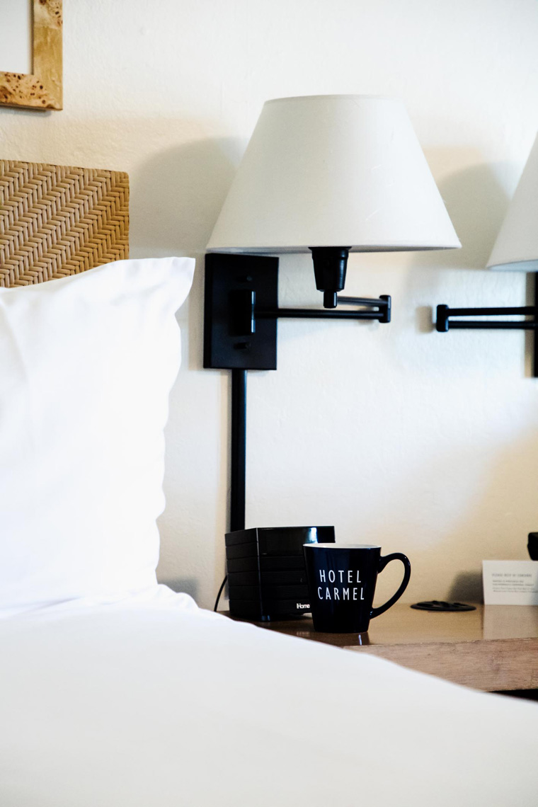 Hotel Carmel mug and lamp