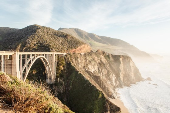 Bixby Bridge and ocean cliffs